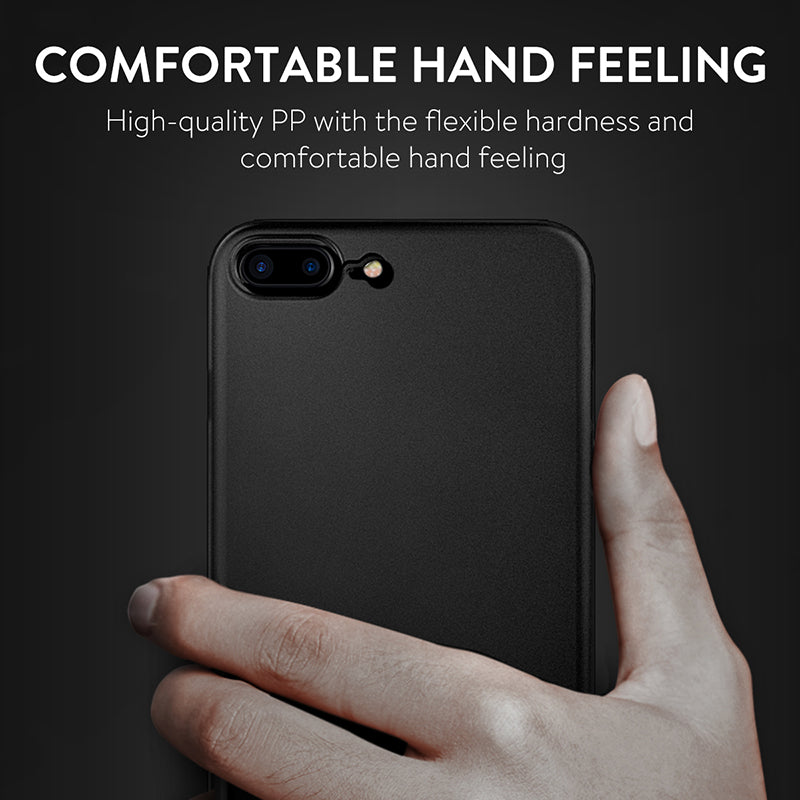 Ultra Thin PP Case For iPhone 8 7 Plus Cover Slim Simple Business Matte Finish - mobilecare17