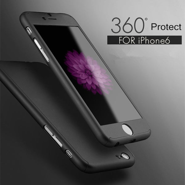Luxury Hybrid Tempered Glass + Acrylic Hard Case Cover Skin For iPhone 6 4.7inch - mobilecare17