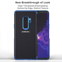 Plated Soft TPU Case For Samsung Galaxy S8 S9 Plus Luxury Clear Phone Cases Capa Coque