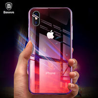 Case For iPhone X 10 Capinhas Gradient Color Ultra Thin Slim PC Hard Back Cover Case For iPhoneX Shell Coque Fundas