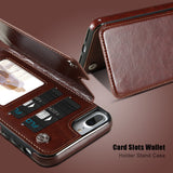 Card Slot Wallet Case For iPhone X 7 8 Plus Stand Holder Leather Phone Cases For iPhone 7 6 XS Max 5s 5 SE Cover Fundas