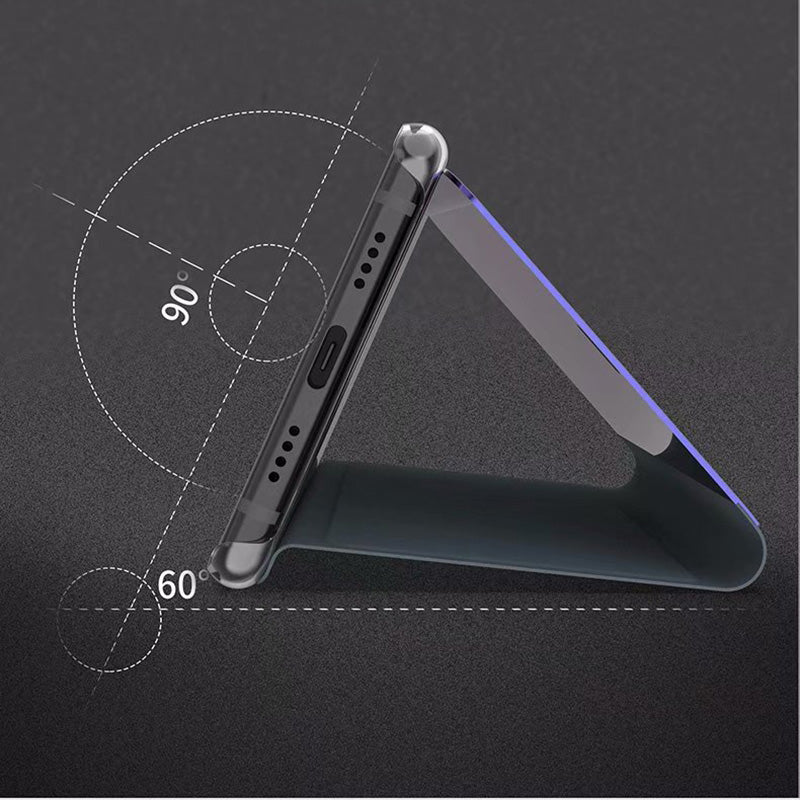 Luxury Flip Stand Smart Clear View Mirror Case sfor Samsung galaxy A6 2018 A600F A6+ A6Plus A6 Plus Mobile Phone Bags Cover - mobilecare17