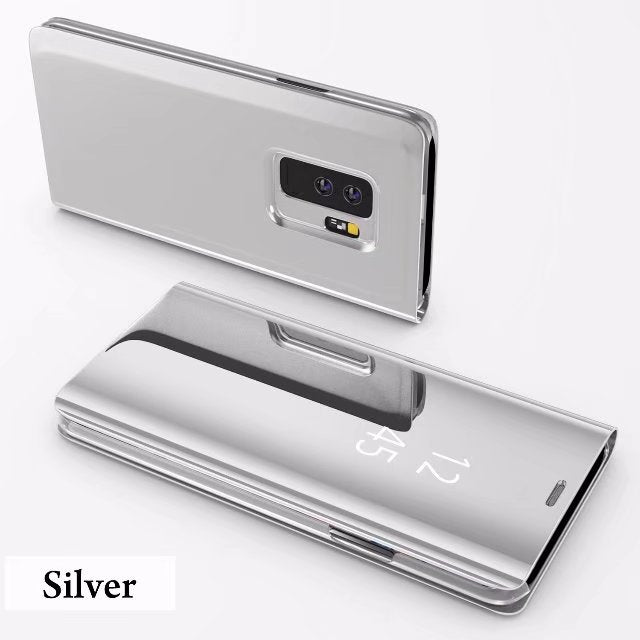 For Samsung Galaxy S8 Plus S9 Plus Smart Chip Clear View Cover For Galaxy S6 S6 edge S6 edge Flip Cover Leather Case - mobilecare17
