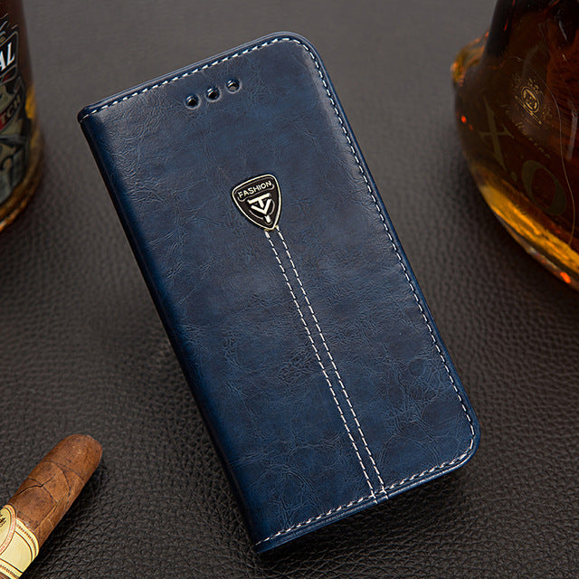 Genuine Leather Vertical Flip Cover Case for Samsung Galaxy S8 Bags Luxury Fundas with Card Holder Cover for Galaxy S8 Coque - mobilecare17