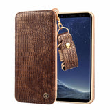 Luxury Genuine Leather case For Samsung Galaxy S8 / S8 Plus with card slot and lanyard - mobilecare17