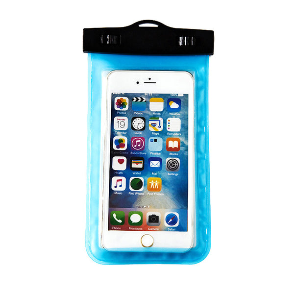 Universal Waterproof Phone Pouch with Sensitive and Transparent TPU Screen WaterProof Dustproof Snowproof Shockproof Cell Phone Dry Bag for Apple iPhone Android SmartPhone up to 5.9