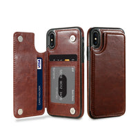 Phone Case For Samsung Galaxy S8 S9 Plus Note 9 8 Vintage Wallet Leather Flip Case For iPhone X XS Max Xr 6 7 8 Plus 5S