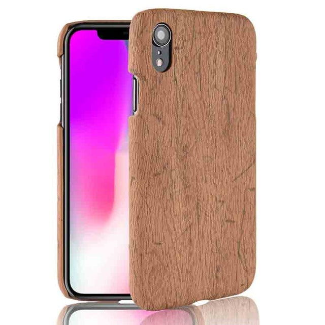 Retro PU Leather Phone Case for iPhone Xs Max XR XS Shockproof PC Matte hard back cover for iPhone 7 plus 8plus X case - mobilecare17