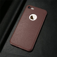 Ultra Thin Phone Case For iPhone XS 6 6s 7 8 Plus Leather Skin Soft TPU Case For iPhone X XS Max XR Back Cover Capinhas