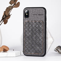 Luxury PU Leather Pattern Phone Case For iPhone XR Soft TPU Silicon Shockproof Cover For iPhone Xs Max mobile Phone coque - mobilecare17