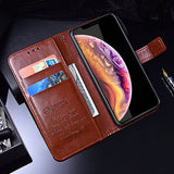Flip Wallet Case for iPhone Xs XR Vintage Business Luxury PU Leather Phone Case for iPhone X Xs Max Coque - mobilecare17