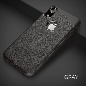 Luxury Leather Pattern Phone Case For Apple iPhone X XR XS Max Soft Silicone Shockproof Cover For iPhone 7 8 6 6s Plus Cases - mobilecare17