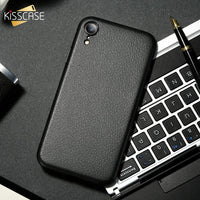 Ultra Thin Phone Case For iPhone XS 6 6s 7 8 Plus Leather Skin Soft TPU Case For iPhone X XS Max XR Back Cover Capinhas - mobilecare17