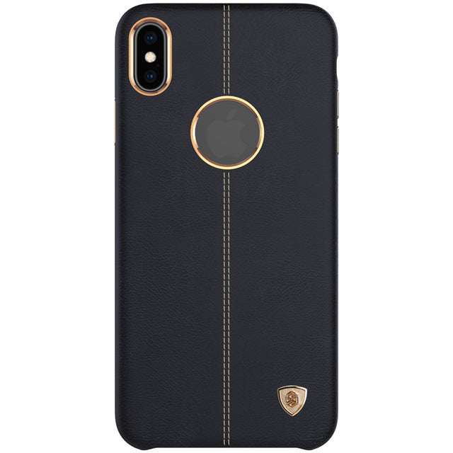 Case for iPhone Xs Max Luxury Vintage Englon PU Leather Plastic Back Cover sFor iPhone Xs Max Case - mobilecare17