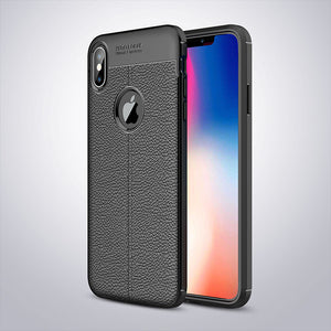 High Quality Phone Case Cover For iPhone XS Max Case XR X 7 8 6 6S Plus 5S SE 5 Ultra Thin Capa Leather Texture Protective Cases - mobilecare17