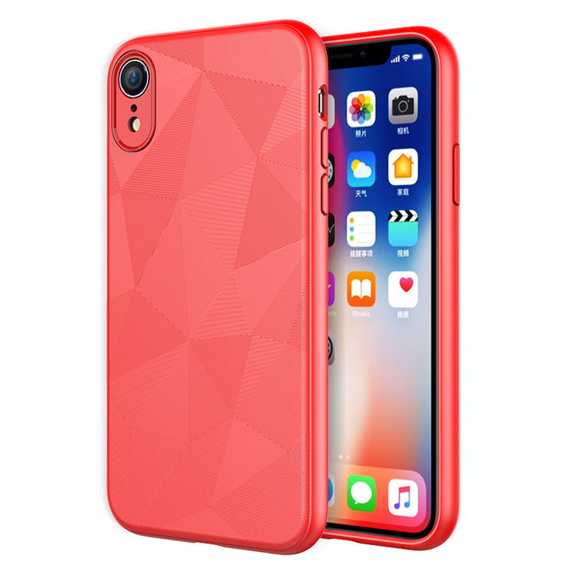 Ultra Thin Phone Cases For iPhone Xs XR Xs Max Cover lmitation Leather Skin Soft TPU Silicone Case For iPhone Xs Max Shell - mobilecare17