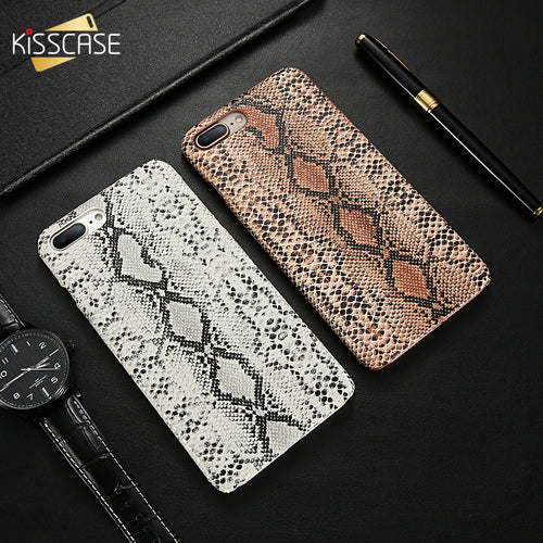 Snake Skin Leather Case For iPhone X XS Max 7 8 Plus Retro Snake Crocodile Slim Hard Phone Case For iPhone 6 6S Plus XR