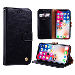 PU Leather Wallet Case For iPhone XS Max XR X 7 6 6S 8 Plus 5S 5 SE Card Stand Flip Case Cover Phone Holder Armor Shell