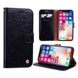PU Leather Wallet Case For iPhone XS Max XR X 7 6 6S 8 Plus 5S 5 SE Card Stand Flip Case Cover Phone Holder Armor Shell - mobilecare17