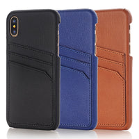 Retro Card Slot Leather Case For iPhone X Xs Max XR Shockproof Cover - mobilecare17