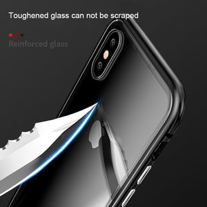 New Luxury Magnetic Case For Samsung Galaxy S8 S9 Plus S7 Edge Note 8 9 Clear Mobile Phone tempered glass Back Cover Casing Etui - mobilecare17