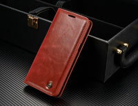 Luxury Business wallet Stand Flip Cover Leather case for Samsung S8 / S8 Plus Mobile phone bag - mobilecare17