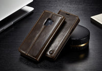 For Samsung Galaxy S9 / S9 Plus Magnetic Stand Wallet Leather Cases Cover Exclusive and Luxurious Retro Style Vintage Look - mobilecare17