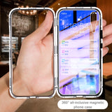 Magnetic Adsorption Flip Case for Huawei Mate 20 Pro P20 Lite Honor 8X Play 10 Nova 3i 3 Tempered Glass Back Cover Bumper Case - mobilecare17