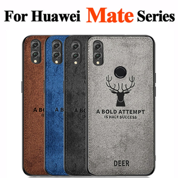 huge discount e72a3 842af For Huawei Mate 20 x Fabric Case Soft edge Silicone Phone Cases For Huawei  Mate20 Mate 20 Pro Mate 20Pro 20x Coque Cover