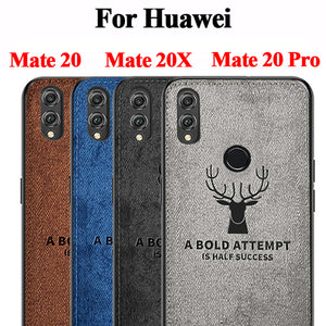 For Huawei Mate 20 x Fabric Case Soft edge Silicone Phone Cases For Huawei Mate20 Mate 20 Pro Mate 20Pro 20x Coque Cover - mobilecare17