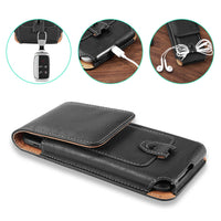 Universal Pouch Leather phone Case For iphone XS X 6 7 8 plus Waist Bag Magnetic holster Belt Clip phone cover for redmi 5 plus - mobilecare17