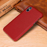 Genuine Luxury Leather Back Case Cover for iPhone XS Max XR X 6 6S 7 8 Plus - mobilecare17
