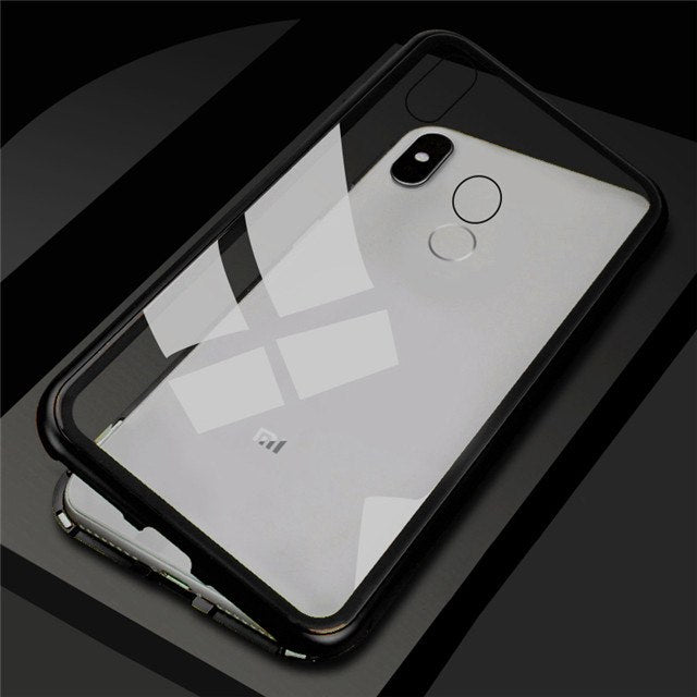 Magnetic Adsorption Tempered Glass Case Cover For Xiaomi Mi 8 8 Lite Mi A2 6X MiA2 Mi6x - mobilecare17