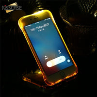 TPU Call Light Case For iPhone 8 7 6 6S Plus Phone LED Cases Anti-knock Flash Phone Cover For iPhone 5 5S SE X 10 Shell - mobilecare17