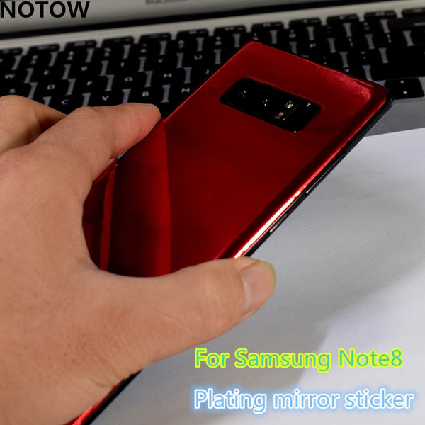 Plating mirror membrane skins protective film mobile back sticker for Samsung Galaxy s10/s10E/S10plus/s9/s9+ Note8