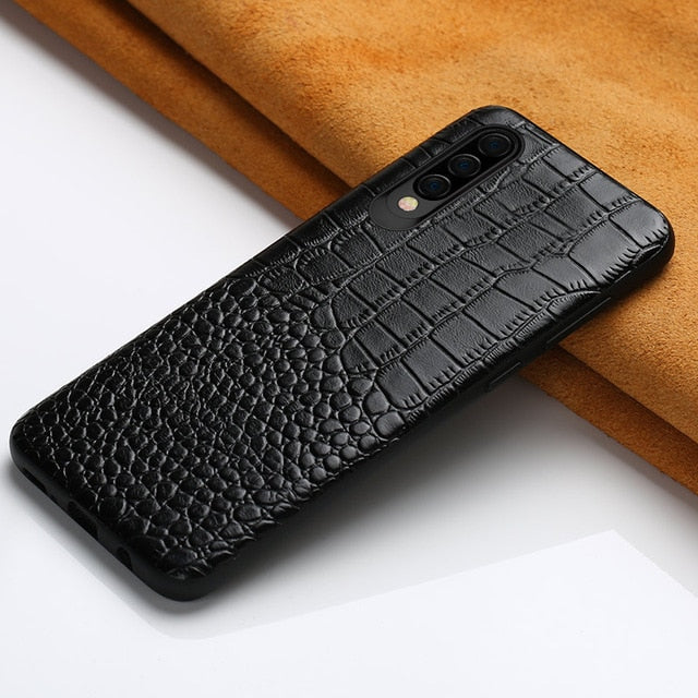 Genuine Leather mobile phone case for Samsung galaxy A50 A70 S10 S7 S8 S9 Plus A8 A7 2018 luxury 360 Full protective Back cover - mobilecare17