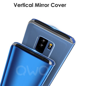 Mobile Phone Case For Samsung Galaxy S9 S8 S10 Plus S10E A8 A7 2018 Note 9 8 Mirror Flip Case For Samsung A50 M20 - mobilecare17