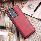 Case For Samsung Galaxy S20 S20 Plus S20 Ultra Shockproof Back Cover Solid Colored PU Leathe S10 S10E S10 Plus S9 S9 Plus