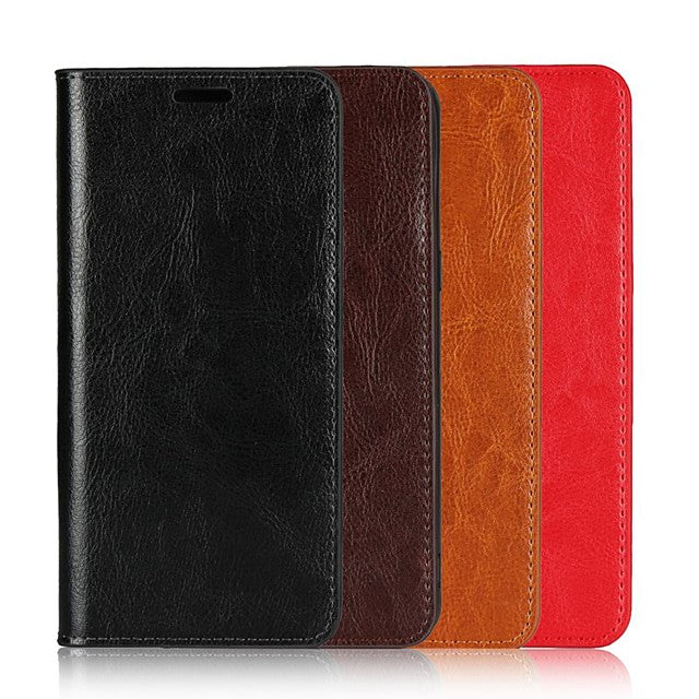 Case For Oneplus 8 Pro /One plus 7T Pro / Oneplus 6T  Wallet / Card Holder / Shockproof Full Body Cases Solid Colored Genuine Leather For  Oneplus 8 / Oneplus 7 Pro / Oneplus 6 / Oneplus 5T/ Oneplus 3