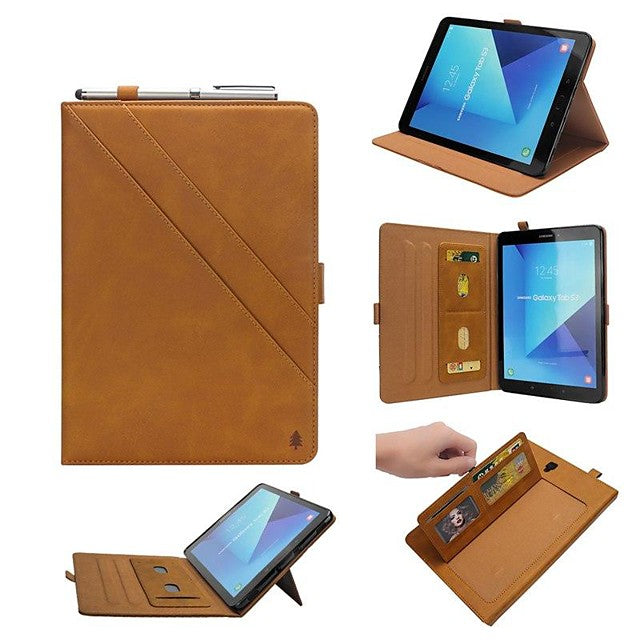 Shockproof Leather Case for Samsung Galaxy Tab S4 10.5 (2018)/ A2 10.5(2018) T595 T590/ S3 9.7 Wallet with Card Holder