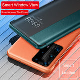 Smart Window View Flip Leather Case For Huawei P40 P40 Pro P30 Pro Mate 30 Pro Phone Case Auto Sleep Wake