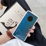 Case For Huawei Huawei P30 / Huawei P30 Pro / Mate 30 Shockproof Back Cover Solid Colored TPU
