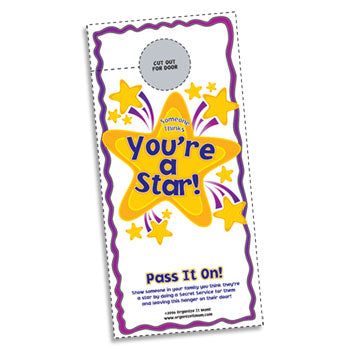 Free You're a Star Door Hanger