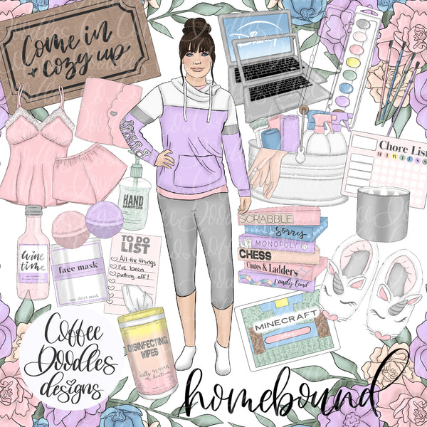 Homebound Pastel Collection Inspired Inspired Clipart