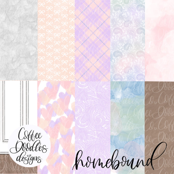 Homebound Pastel Collection Inspired NOT SEAMLESS Inspired Digital Paper Pack