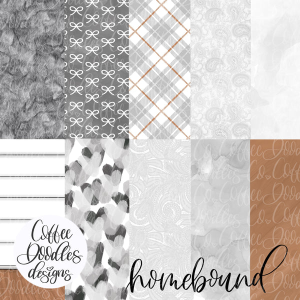 Homebound Neutral Collection Inspired NOT SEAMLESS Inspired Digital Paper Pack
