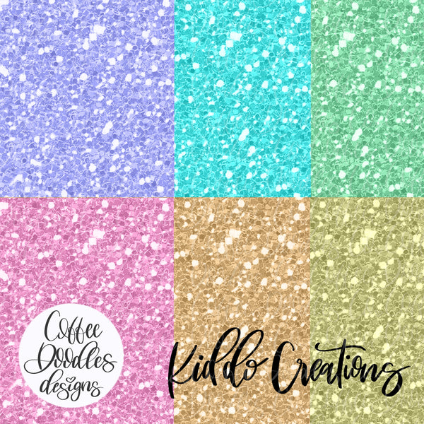 Kiddo Creations Collection Inspired Glitter Digital Paper Pack