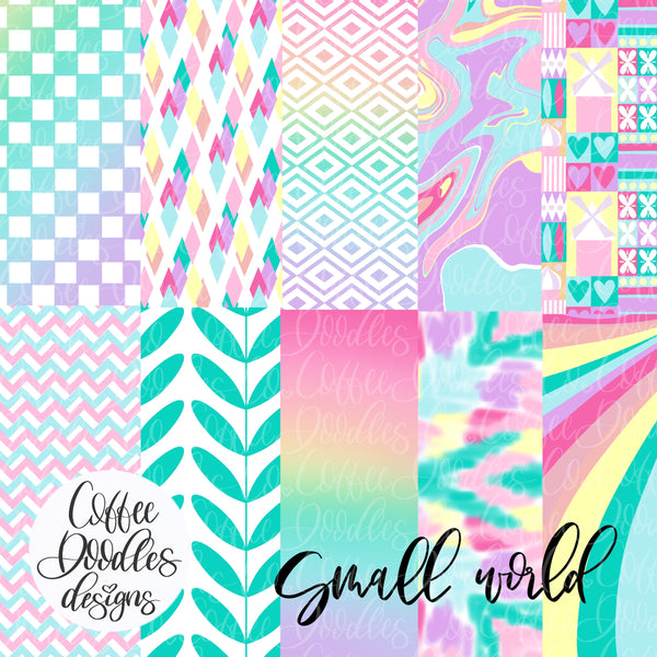Small World Inspired NOT SEAMLESS Inspired Digital Paper Pack