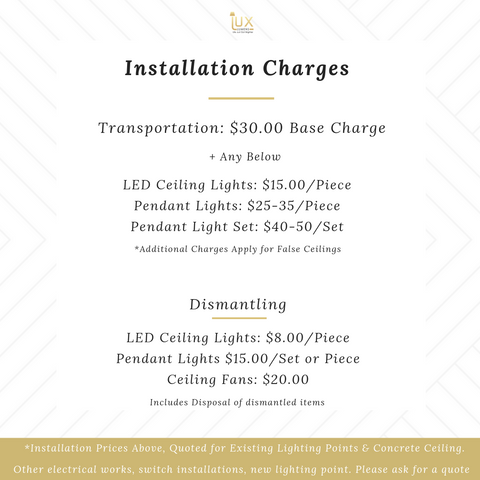 Lighting Installation Price