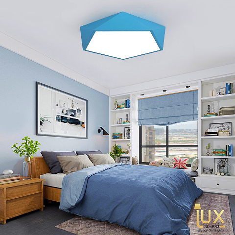 Lux-Lumens | Singapore's Fully-Online Lighting Retail - Pendant Lights, LED Ceiling Lights & Fans. Get the Macron | Pentagon LED Ceiling Light to complement your Modern Themes. Instant utility savings of up to 40% choosing LED Ceiling Lights. Free Island-wide Delivery - No Minimum Purchase for all BTO, Resale, EC, Condo, Restaurants, Cafes, Hotel & Retail Lighting.